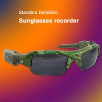 apple color software - The latest camouflage color camera sunglasses built in video player software free mail DG1008 smart glasses