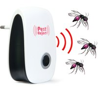 Wholesale 2016 Multi purpose Electronic Pest Repeller Ultrasonic Mosquito Rejector for Lustrating Mouse Bug Mosquito Insect EU Plug