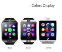 Q18 montres intelligentes pour téléphones Android Bluetooth Smartwatch avec appareil photo Original q18 Support Tf SIM Carte Slot Bluetooth NFC Connection