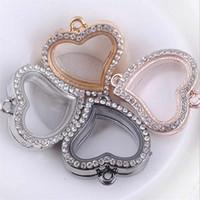 Wholesale Vogue Magnetic Crystal Living Memory Locket Pendant For Bracelet Floating Charms