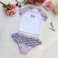 Wholesale 4 Infant Girls Brand UV Protection Surfing Cloth Girls Two Pieces set Swimwear Kids Halter Tankini Bathing suit Beach wear
