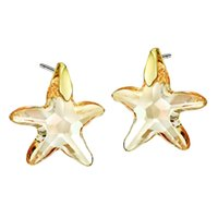 Wholesale Neoglory Gold Plated Crystal Star Stud Earrings For Women New Brand Gifts