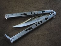 beam blade - Classic butterfly rejection knife beam particle stone wash handle drawing edge blade bowie game blade section