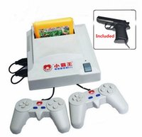 Wholesale Subor TV plug yellow card game D31 bit FC game Shooting game Double handle game player with free Game Card