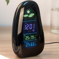 Wholesale 2016 Outdoor Indoor Wireless Digital Alarm Clock Weather Station Humidity Temperature Thermometer Hygrometer Celsius Fahrenheit degree