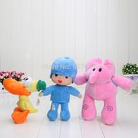 bandai wholesale - cm inch popular bandai plush Pocoyo ELLY PATO Soft Plush Stuffed Figure Toy Doll retail