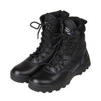 Nuevos Hombres De Ejército De Ejército Combat Tactical Botas Al Aire Libre De Excursión De Desierto De Cuero Botas De Tobillo Militar De Zapatos De Combate Masculino Botas Hombre