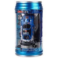 achat en gros de micro jouet électrique de voiture-1 63 Coke Can Mini RC Camion de vitesse Car Truck Radio Télécommande Micro Racing Véhicule de contrôle électrique Toy HOT