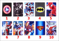 Wholesale Cartoon Stand Tablet Cases for apple ipad Mini Inch Spider Man Superman The Avengers Iron Man Batman ipad For kids