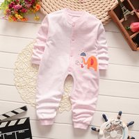 Wholesale The baby rompers with animal letter picture and cotton material for small baby
