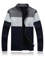 Wholesale Sweater Men Winter Keep Warm Knitwear Thick Cashmere Ugly Christmas Sweaters Cardigan Male Casual Coat SY116