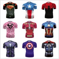 america vest - compression camptain america shirt tights men superhero sports short sleeved riding speed drying clothing riding basketball vest male