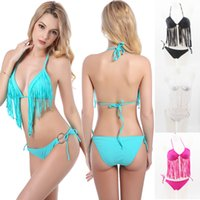 Wholesale Many tees in long fringe bikini sexy show thin fashion outside Europe and the United States single swimsuit