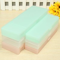 Wholesale Newest Multifunction Cute Transparent Frosted Plastic Pencil Case Storage Pen Box For Kids Gift Office School Stationery Supply