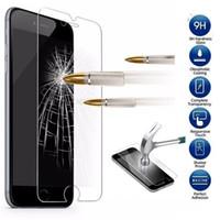 Stock américain 9H Verre trempé ForiPhone 6s Plus Premium Protector d'écran Film protecteur Téléphone Livraison gratuite