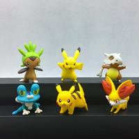Wholesale 2 inch action figure toys original pikachu Froakie Fennekin Chespin Cubone set without pokeball