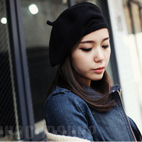 beret hats for sale - Winter hats for women Knitted wool Pattern Hats Beret Warm Caps Female Cute Felt New Design Hot Sale Warm And Cute