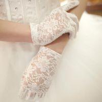 Cheap Wholesale bride wedding dresses accessories gloves wedding short stretch elastic lace gloves