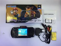 Wholesale Free DHL Portable pvp bit Game Player Pocket Game with Free Game Card AV Cable Charging Retail Packaging Built in Classical Games M538 B