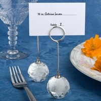 Wholesale Wedding Table Decoration Favor Choice Crystal Collection Crystal Ball Place Card Holders Event Wedding Supplies