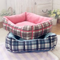 Wholesale 2016 kennel cotton nest small square warm square nest pet dog warm cotton nest dog dog beds