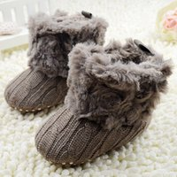 baby bootees - Infant Baby Toddler Crochet Knit Fleece Boots Warm Knit Bootee Crib Shoes Socks