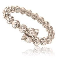 Wholesale Luxury fashion jewelry Lady s set auger ferromagnetic alloy buckle bracelet for Christmas High quality wedding accessories