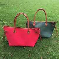 bag snaps - Blanks Red and Green Canvas Tote Christmas Solid Canvas Purse with PU Handle and Magnetic Snap Closure DOM106369