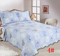 Wholesale Cotton quilted bedspread bed cover sheet cm King piece