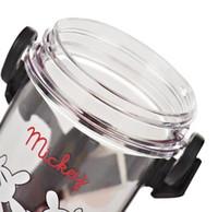 2016 Nouveaux enfants 500ml Mickey Mouse bidons d'eau potable PP / ABS / TPR / Livraison gratuite Cartoon plastique Straw Cup