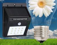 NEW 12 светодиодных Яркие солнечные панели лампы Открытый сад Датчик движения Активированный Солнечные фонари для Патио фехтования Водонепроницаемый MYY