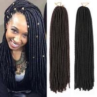Nuevas extensiones sintéticas del pelo del trenzado Kanekalon Faux Locs Dreadlocks Trenzar peinados Curly Weave Havana Mambo Hair Extensions