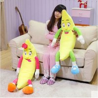 banana giant - 37 Big Lovely Soft Fruit Banana Plush Pillow cm Giant Stuffed Lover Bananas Toy Kids Doll Birthday Gift