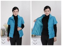 Wholesale 2016 New Autumn Winter Fashion Waistcoat Women Vests Coat Slim Plus Size Waistcoat Jacket cotton Outwear Female