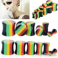Wholesale Solid Acrylic Flare Tunnels Ear Expander Plugs Stretch Gauges Punk