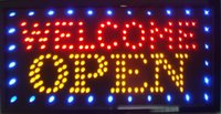 Wholesale led open business direct selling led sign x15 inch semi outdoor flashing custom led signs