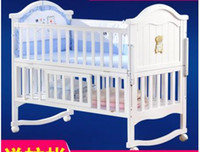 Wholesale Wood crib cradle of multiple functions of children neonatal bed with mosquito net game