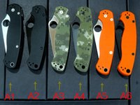 best military knife - New C81 Para Military Knife Orage Black camouflage green G10 Satin Plain Clip point Folding blade knife Promise Best quality