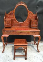Wholesale Solid wood dresser pieces set bedroom make up desk home wood furniture bowlegged dressers african rosewood JY D003