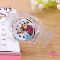 batman watch - New Style Transparent Plastic Watch Women Quartz Windmill Watches white Clear Wrist Frozen Batman Roman numerals Kt cat dress Girl Clock