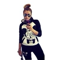 Wholesale 2016 the entire single explosion and Mickey Hoodie suit ladies leisure suit