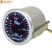 Wholesale New quot mm DC V Car Trubo Boost Gauge Meter With Led Display Bar for Pressure of Automobile Turbo