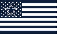 Wholesale Dallas Cowboys band of US flag X cm polyester flag banner printing digita