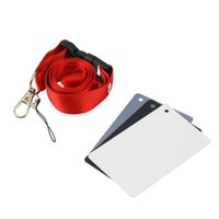 Wholesale 3 in Pocket Size Digital Camera White Black Grey Balance Cards with Neck Strap for Digital Pography Promotion