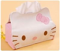 Wholesale Length CMPU Hello KITTY Winnie the Pooh Cute Home Car Tissue Case Box Container Towel Napkin Papers BAG Holder BOX Case Pouch