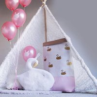 achat en gros de jouets pour bébés pendre-Xmas Handmade Kids Bébé Animaux Princesse Swan Dobby Stuffed Peluches Jouets Wall Hanging Décoration Cadeaux pour les enfants