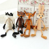 Wholesale New Forest animal plush toy dolls northern America toy gift for men and women or child wolf bear fox rabbit plush toy no1