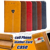 Wholesale Wallet PU Leather Case Phone Cover Pouch with Card Slot TPU For Iphone Plus S PLus Samsung S7 Edge