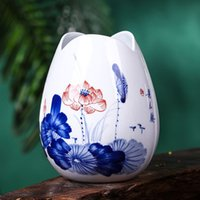 Wholesale Vintage Home Decor Traditional Chinese Ceramic Flower Vases Blue and White Porcelain Vase For Flowers Bonsai Pots