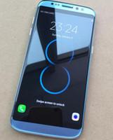 Goophone S8 écran courbé MTK6580 quad core 5.5 pouces Android 5.0 1G 8G montre 64GB faux 4G lte téléphone portable DHL gratuit